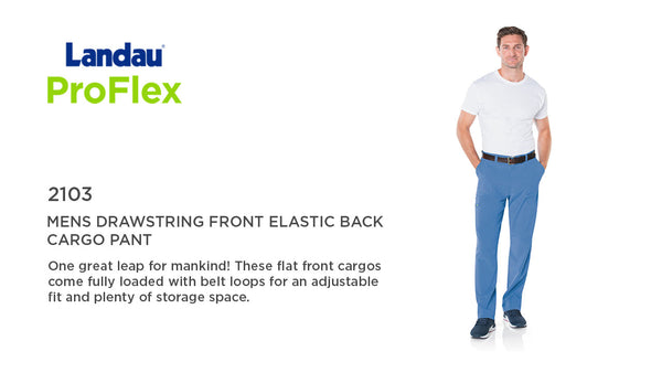 Proflex 2103 Mens Scrub Pant with Zipper and Belt Loop
