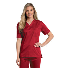 Load image into Gallery viewer, unisex medical uniforms red