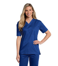 Load image into Gallery viewer, unisex medical uniform galaxy blue