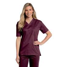 Load image into Gallery viewer, unisex medical uniform wine