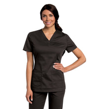 Load image into Gallery viewer, 4143 Tunic Scrub Top Black