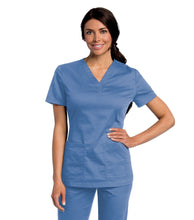 Load image into Gallery viewer, scrub top ceil blue