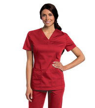 Load image into Gallery viewer, All Day Womens Scrub Tunic 4143 teddyincorp Small Red