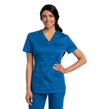 Load image into Gallery viewer, scrub top royal blue