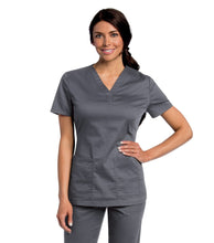 Load image into Gallery viewer, scrub top steel grey