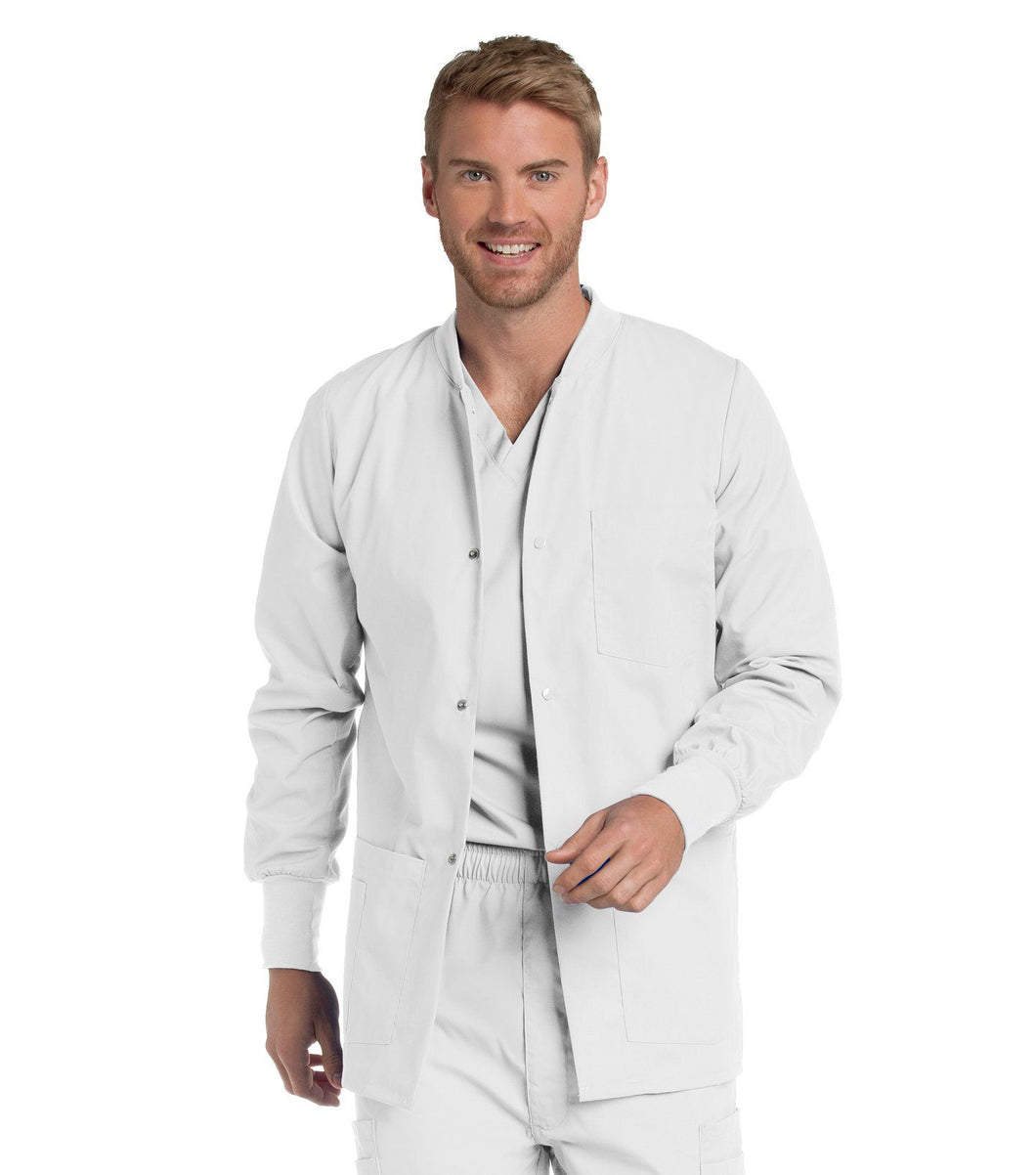 Men's Warm up Jacket with Snaps and knit cuffs -7551 teddyincorp Small