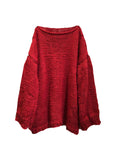 Red Rose Over-sized Unisex Sweater