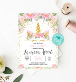 Unicorn Baby Shower Invitation Printable