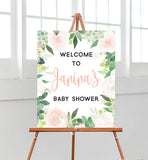 Floral Succulent Welcome Sign