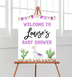 Purple Llama Welcome Sign