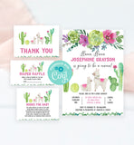Cheers Bundle: Llama Baby Shower Invitation Pack
