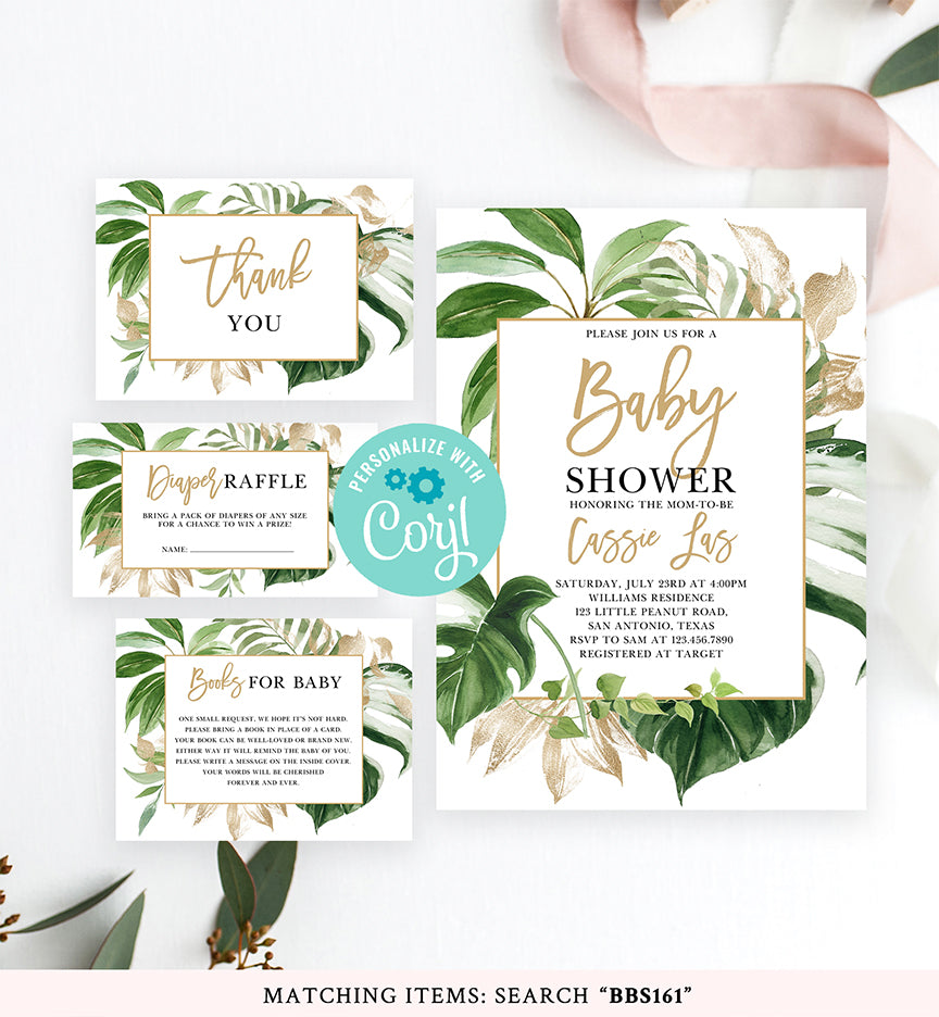 Cheers Bundle: Tropical Baby Shower Invitation Pack