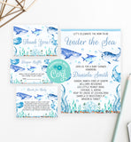 Cheers Bundle: Under the Sea Baby Shower Invitation Pack