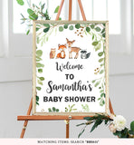 Green Foliage Woodland Welcome Sign