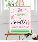 Watermelon Baby Shower Welcome Sign