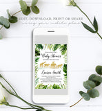 Safari Jungle Baby Shower Invitation Printable