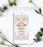 Cheers Bundle: Floral Woodland Baby Shower Invitation Pack