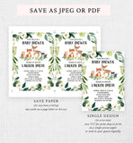 Cheers Bundle: Greenery Floral Woodland Baby Shower Invitation Pack