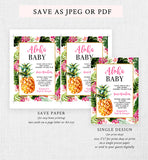 Pineapple Baby Shower Invitation Printable