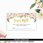 Pink And Gold Floral Diaper Raffle
