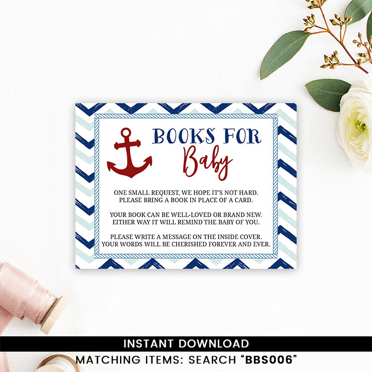Blue And Red Nautical Books for Baby