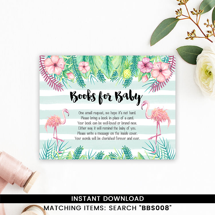 Tropical Flamingo Books for Baby