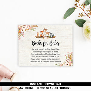 Floral Woodland Books for Baby