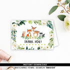 Greenery Floral Woodland Thank you Card