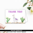 Purple Llama Thank you Card
