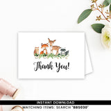 Greenery Woodland Thank you Card