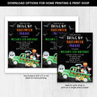 Editable Halloween Parade Birthday Invitation, Halloween Drive by Birthday Invite, Halloween Birthday Invitation, Drive by Halloween Parade