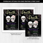 Editable Halloween Till Death Do us Part Invitation, Halloween Bridal Shower Invitation, Halloween Bachelorette Party, Couple Shower Invite