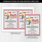 Editable Fall Chili Cookoff Invitation, Fall Cook off Party Invitation, Fall Bbq Invitation, Autumn Thanksgiving Invitation
