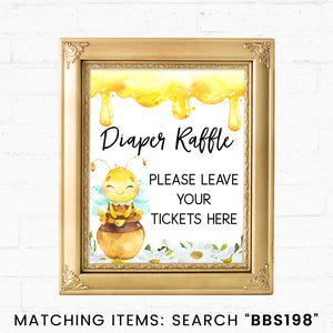 Bee Diaper Raffle Printable Sign