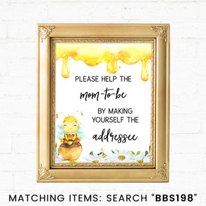 Bee Envelope Station Printable Sign