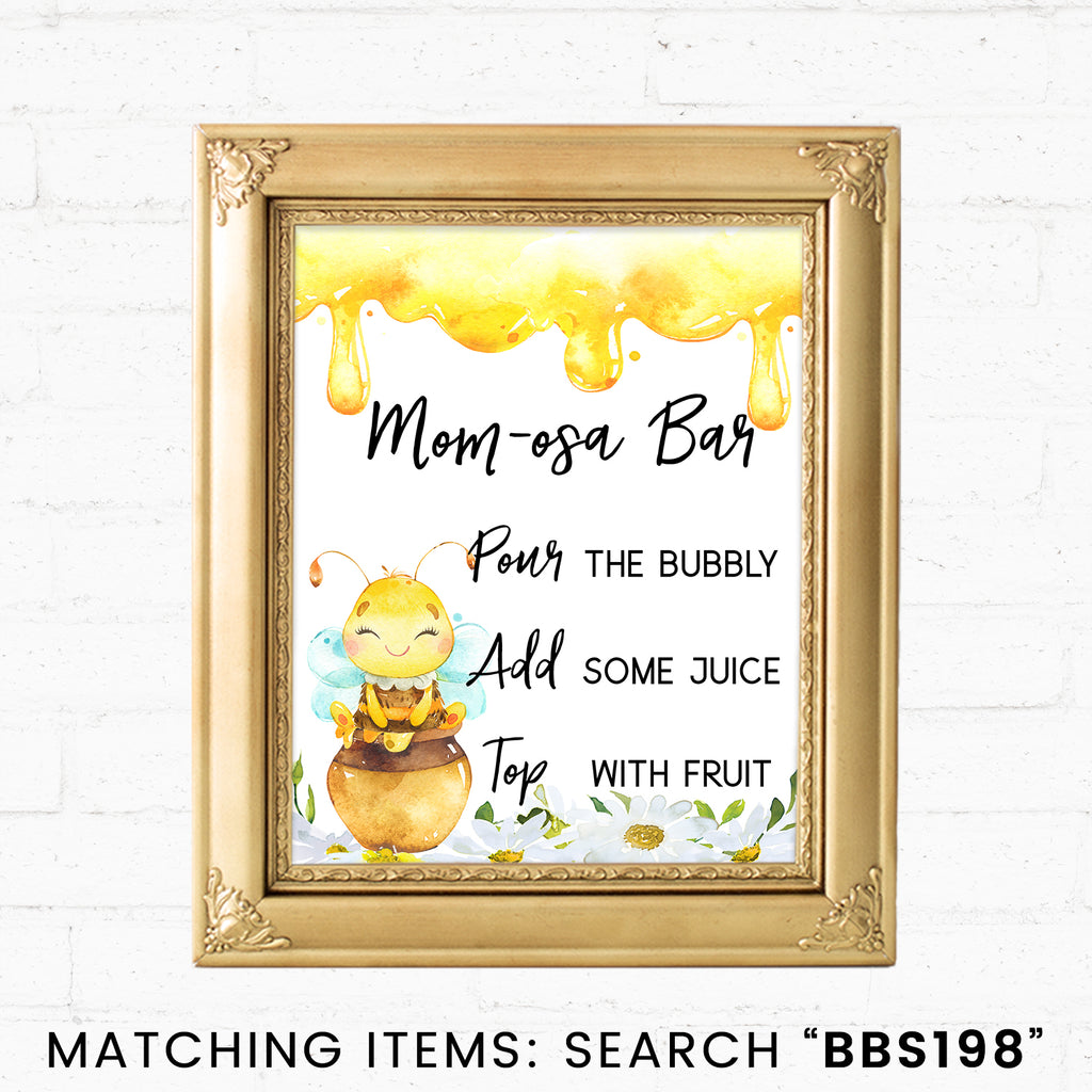 Bee Momosa Bar Printable Sign