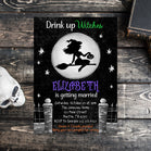 Editable Drink Up Witches Invitation, Halloween Bridal Shower Invite, Halloween Witches Invitation, Halloween Spooky Bachelorette Party