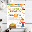 Editable Fall Festival Invitation, School Fall Harvest Invite, Community Halloween Event, Church School Halloween, Fall Festival Fundraiser