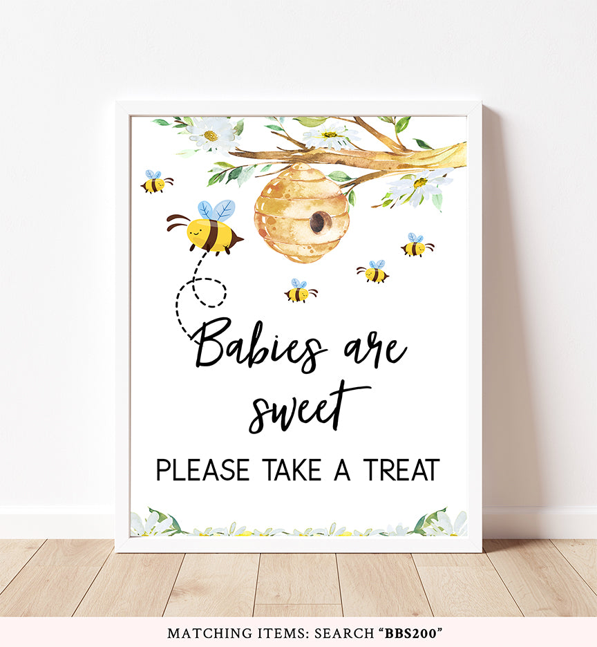Bee Babies Are Sweet Printable Sign