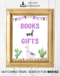 Purple Llama Books And Gifts Printable Sign