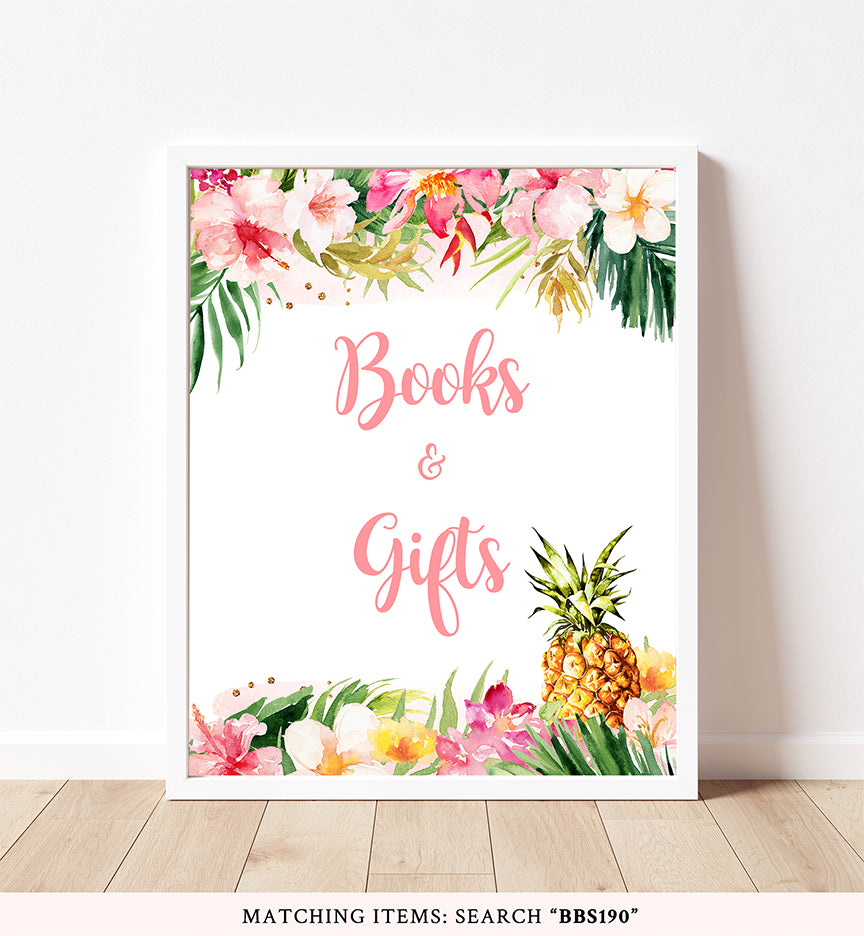 Pineapple Books And Gifts Printable Sign