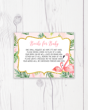 Pink Palm Leaves Flamingo Books for Baby