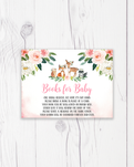 Blush Pink Floral Woodland Books for Baby