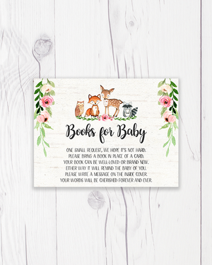 Pink Floral Woodland Books for Baby