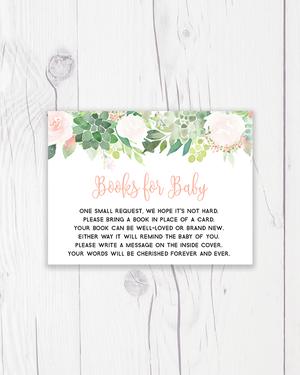 Floral Succulent Books for Baby