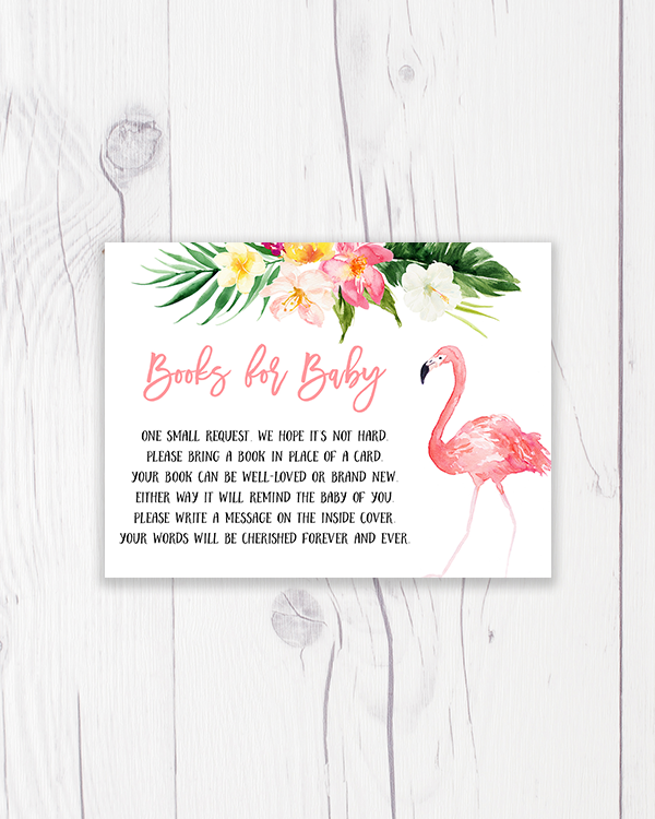 Pink Tropical Flamingo Books for Baby