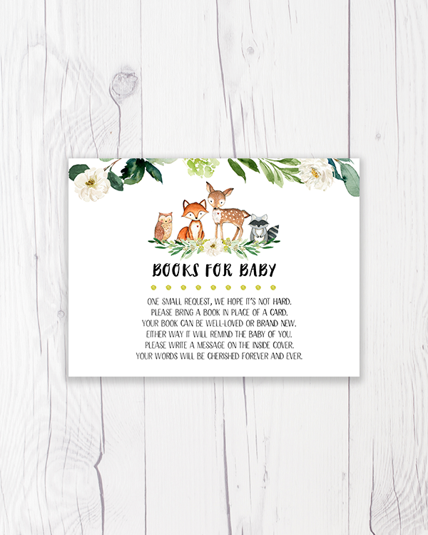 Greenery Floral Woodland Books for Baby