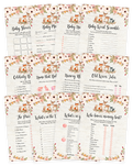Floral Woodland Baby Shower Game Pack