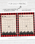 Lumberjack Baby Shower Game Pack