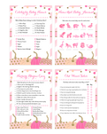 Pink and Gold Pumpkin Baby Shower Game Pack